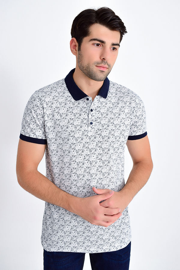 HTML - Lacivert Baskılı Regular T-shirt