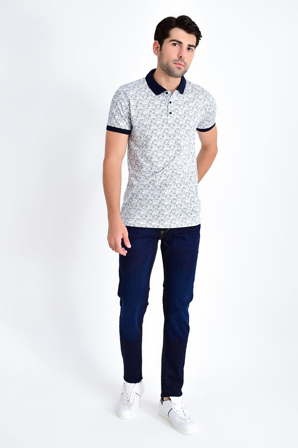 HTML - Lacivert Baskılı Regular T-shirt (1)