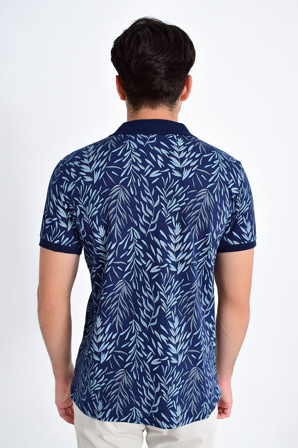 Lacivert Baskılı Regular T-shirt