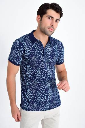 Lacivert Baskılı Regular T-shirt - Thumbnail