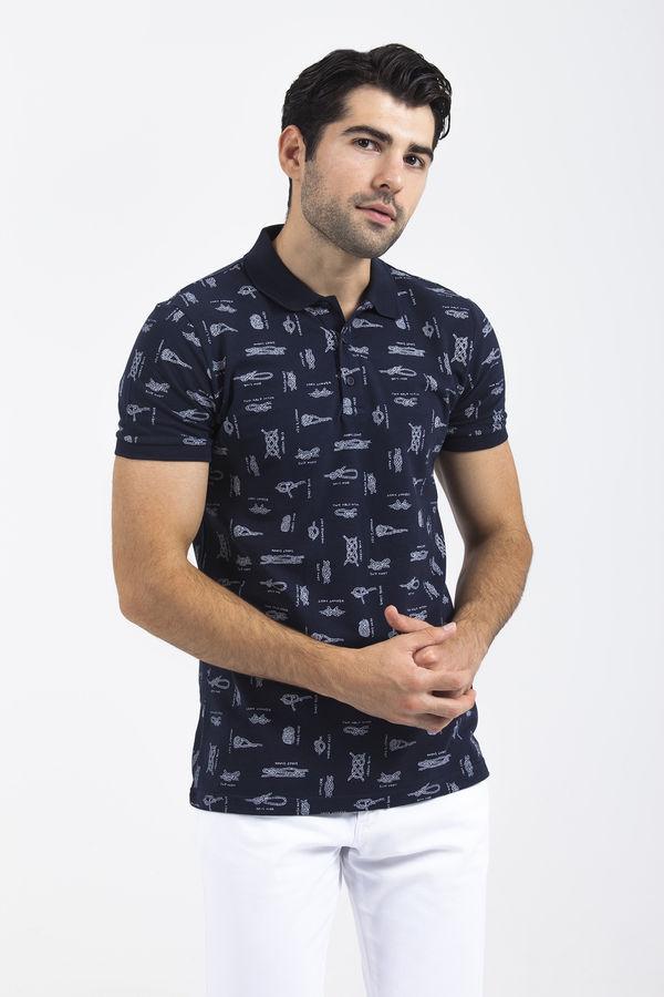 HTML - Lacivert Baskılı T-shirt