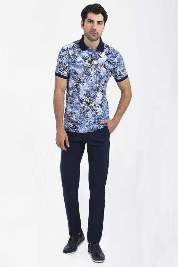 HTML - Lacivert Baskılı T-shirt (1)
