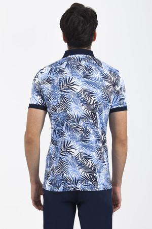 Lacivert Baskılı T-shirt - Thumbnail
