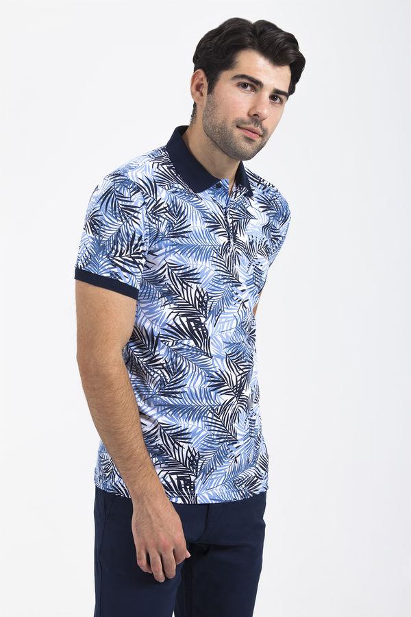 Lacivert Baskılı T-shirt