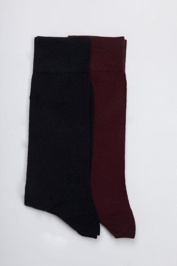 Hatem Saykı - Lacivert - Bordo 2'li Çorap