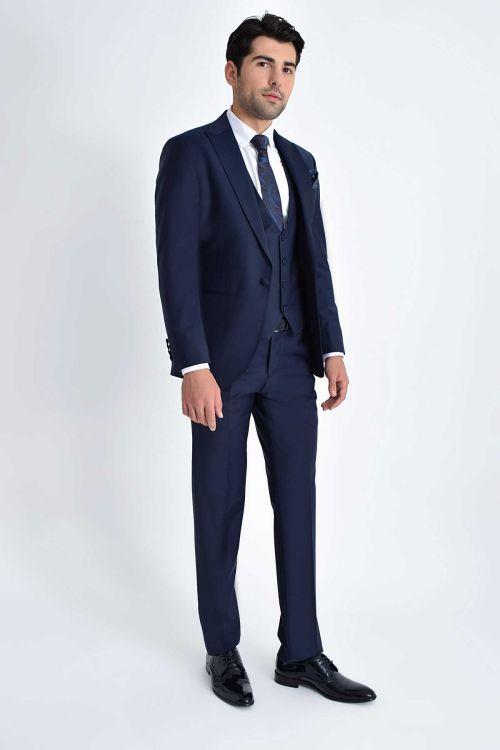 HATEM SAYKI - Lacivert Cerimonia Slim Fit Takım Elbise