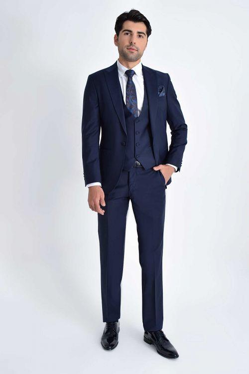 HATEM SAYKI - Lacivert Cerimonia Slim Fit Takım Elbise (1)