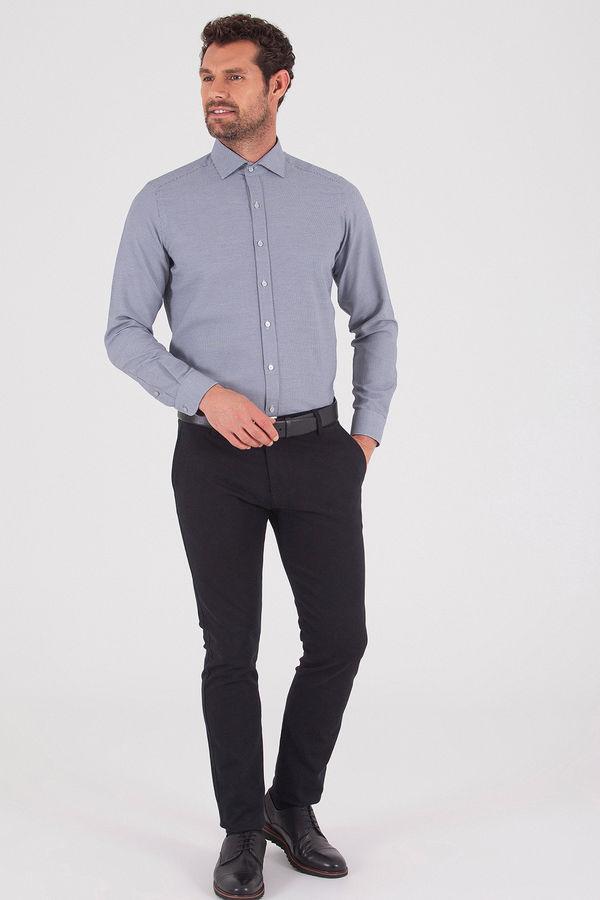 Hatemoğlu - Slim Fit Lacivert Gömlek (1)