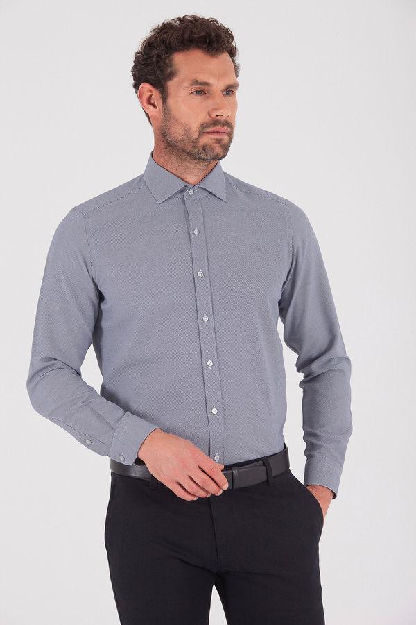 Hatemoğlu - Slim Fit Lacivert Gömlek