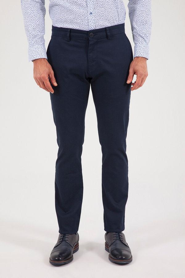 HATEM SAYKI - Lacivert Baskılı Slim Fit Pantolon