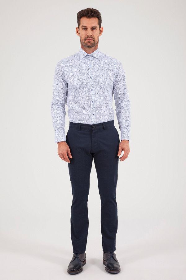 HATEM SAYKI - Lacivert Baskılı Slim Fit Pantolon (1)