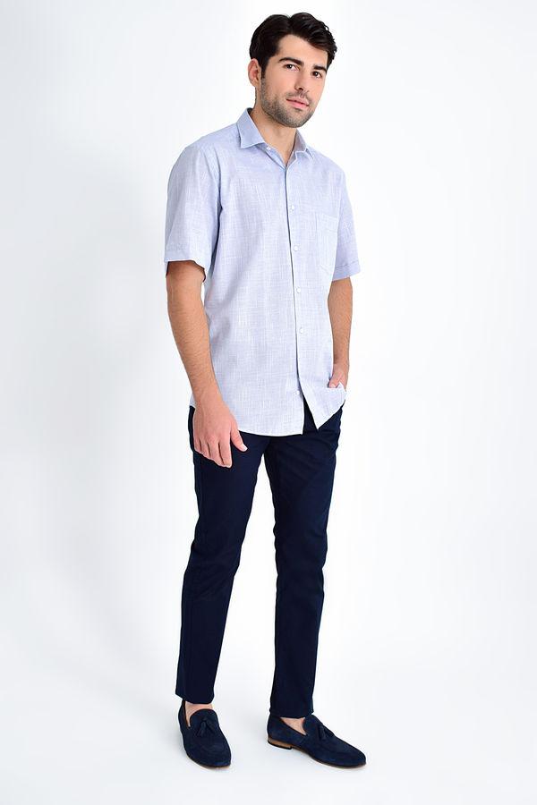 HATEMOĞLU - Lacivert Desenli Klasik Gömlek (1)