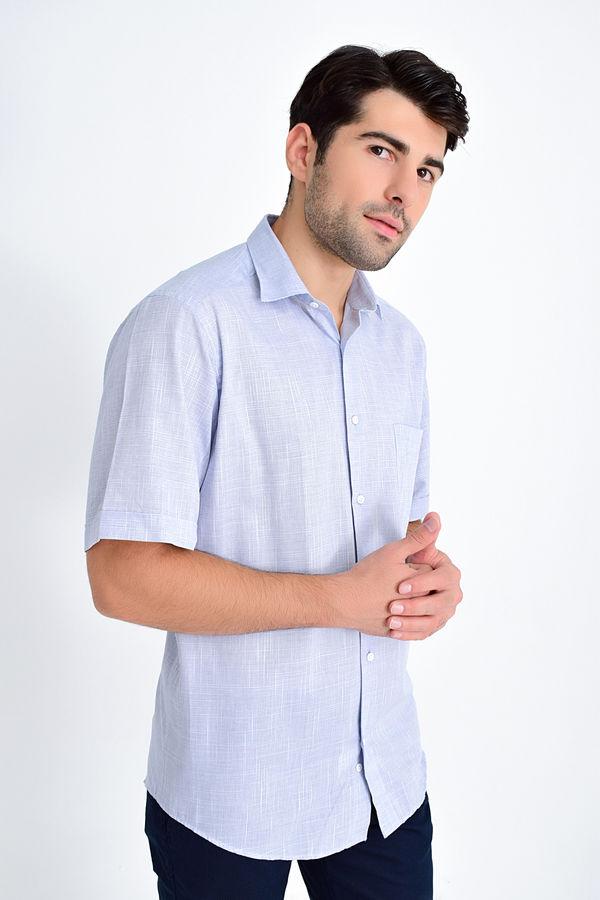 HATEMOĞLU - Lacivert Desenli Klasik Gömlek