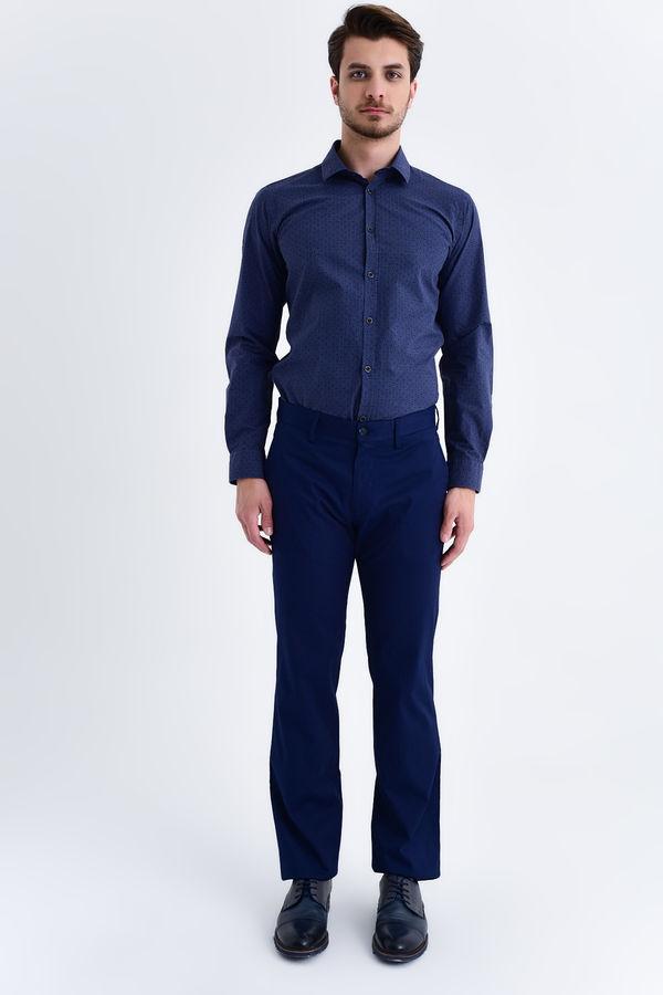 Hatemoğlu - Lacivert Desenli Regular Pantolon (1)