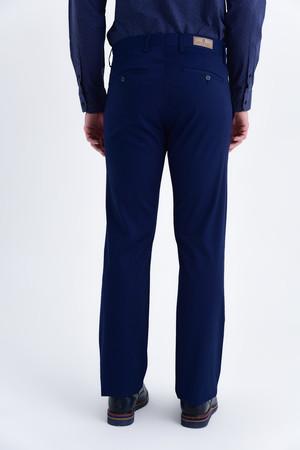 Lacivert Desenli Regular Pantolon - Thumbnail