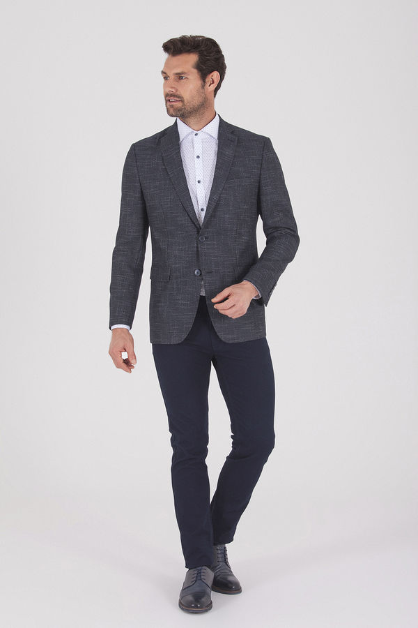 HATEMOĞLU - Lacivert Desenli Slim Fit Ceket (1)