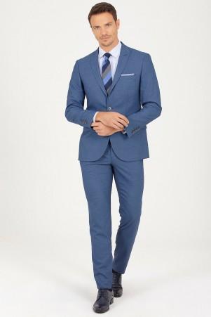 HTML - Mavi Slim Fit Takım Elbise