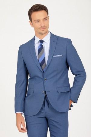 HTML - Mavi Slim Fit Takım Elbise (1)