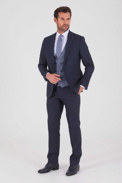 HATEM SAYKI - Lacivert Slim Fit Takım Elbise (1)