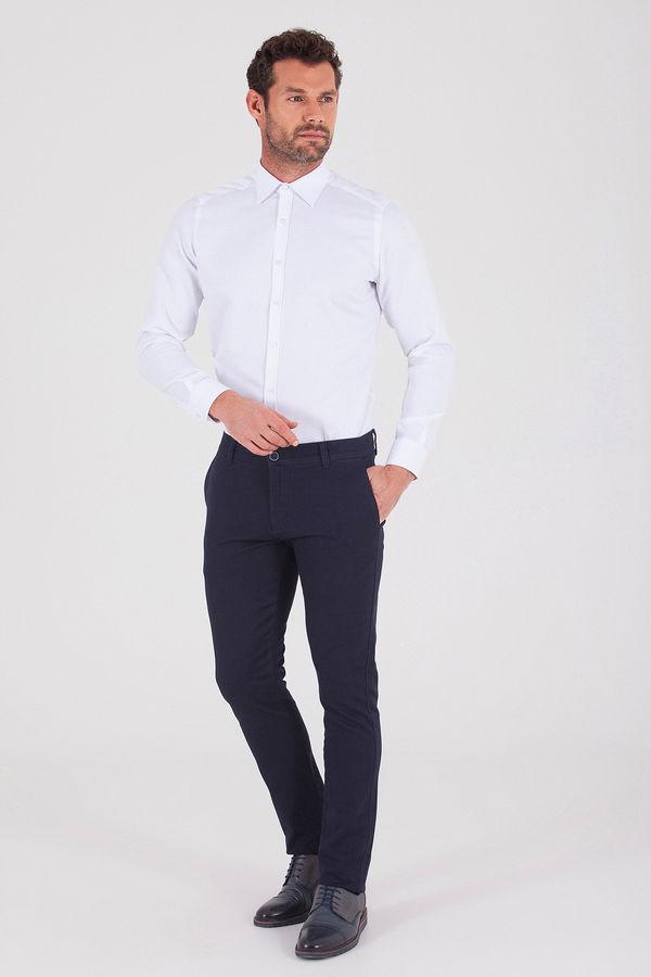 Hatem Saykı - Lacivert Desenli Slim Fit Pantolon (1)