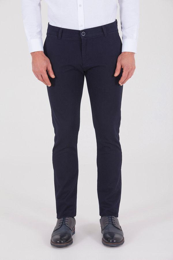 Hatem Saykı - Lacivert Desenli Slim Fit Pantolon
