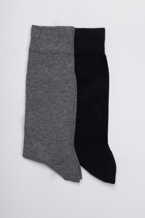 HATEM SAYKI - Lacivert-Gri Çorap