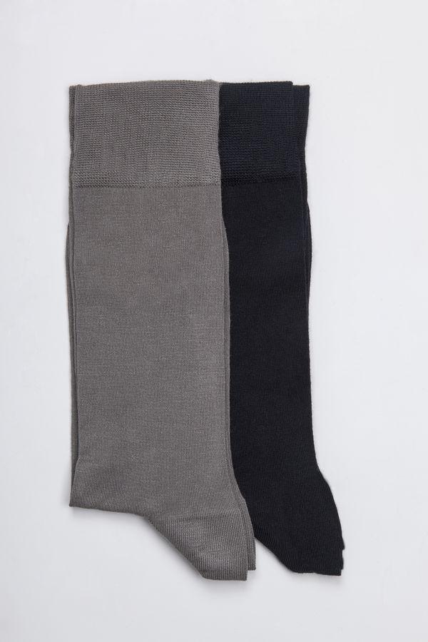 Hatem Saykı - Lacivert-Gri 2'li Çorap