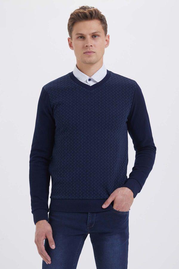 HTML - Lacivert-İndigo Slim Fit Sweatshirt