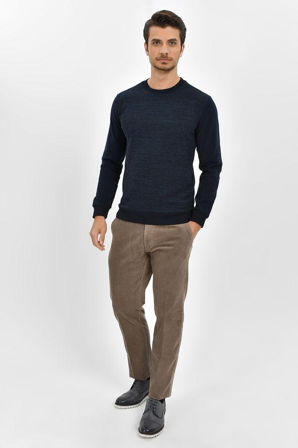 HTML - Lacivert - İndigo Slim Fit Sweatshirt (1)