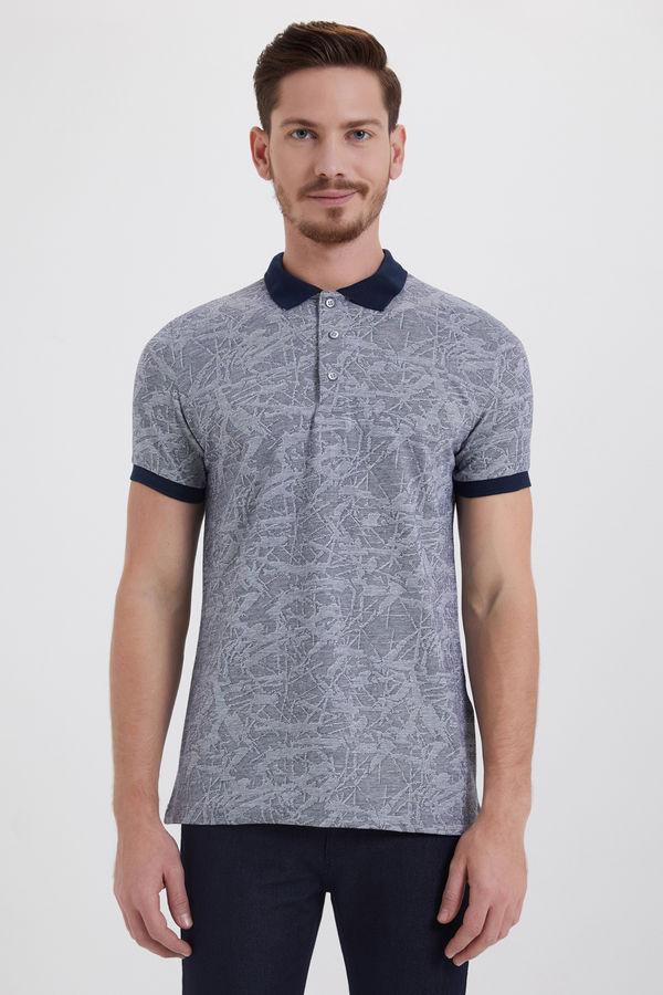 HTML - Lacivert Jakarlı Regular T-shirt