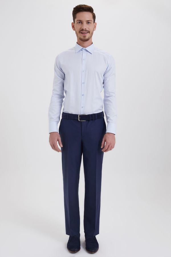 HATEMOĞLU - Lacivert Kareli Regular Pantolon (1)