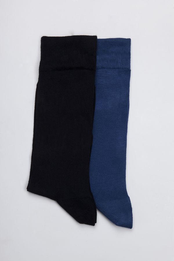 Hatem Saykı - Lacivert - Mavi 2'li Çorap