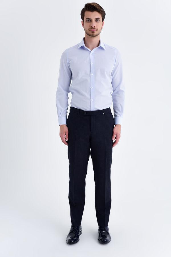 HATEM SAYKI - Lacivert Pitikare Dinamik Pantolon (1)