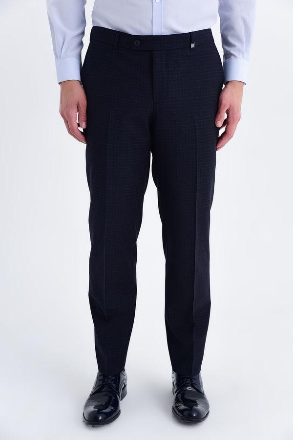 HATEM SAYKI - Lacivert Pitikare Dinamik Pantolon
