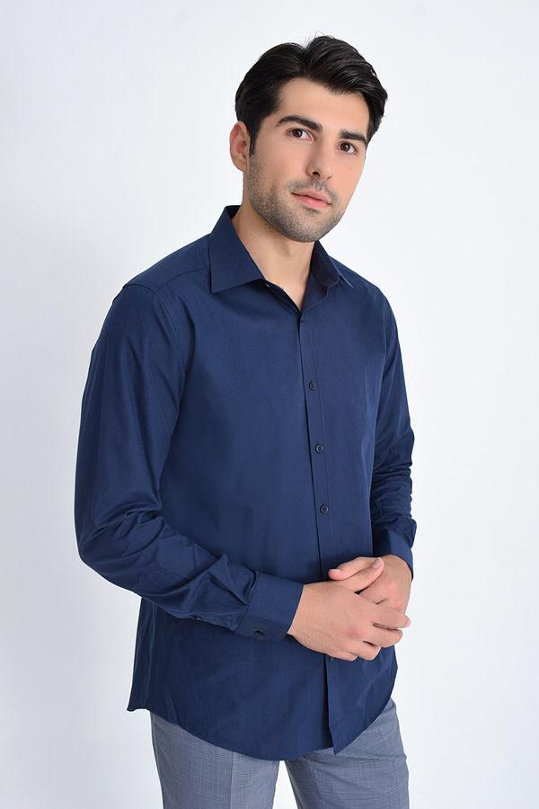 Hatemoğlu - Lacivert Regular Gömlek