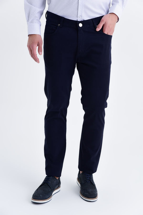 HTML - Lacivert Slim Fit Pantolon