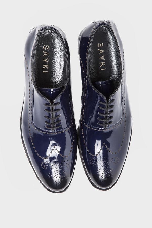Hakiki Deri Lacivert Klasik Ayakkabı