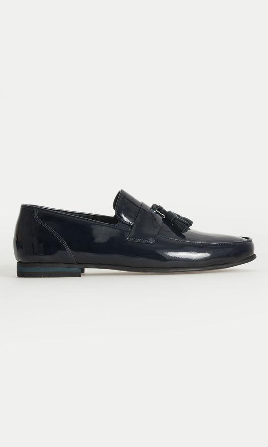 Hatem Saykı - Lacivert Klasik Püsküllü Loafer Ayakkabı