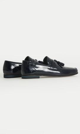 Hakiki Deri Lacivert Klasik Ayakkabı - Thumbnail