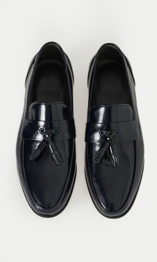 HATEM SAYKI - Hakiki Deri Lacivert Klasik Ayakkabı (1)