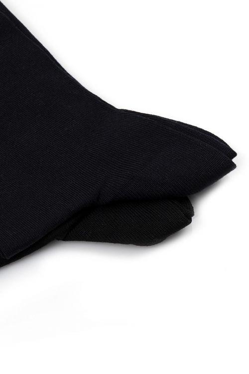 Lacivert-Siyah 2'li Soket Çorap