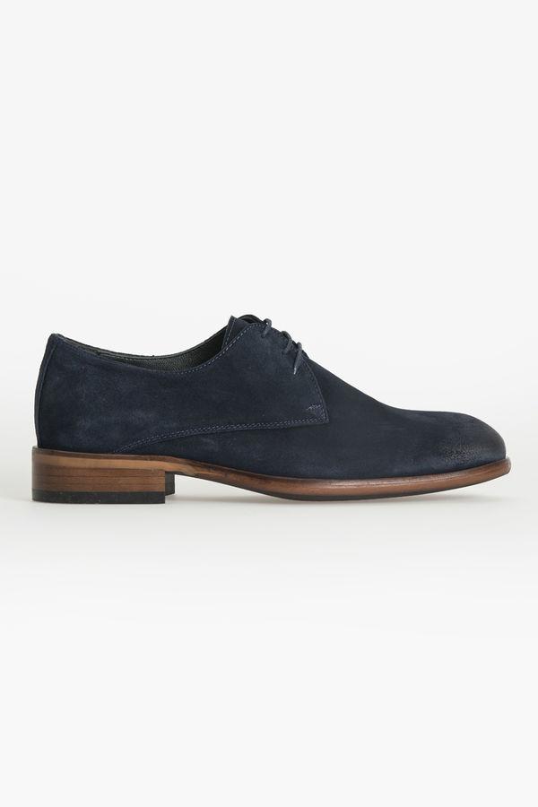 Hatem Saykı - Lacivert Klasik Süet Ayakkabı