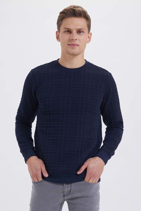 HTML - Lacivert Slim Fit Sweatshirt