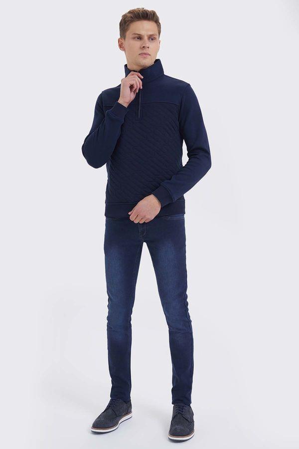 HTML - Lacivert Slim Fit Sweatshirt (1)