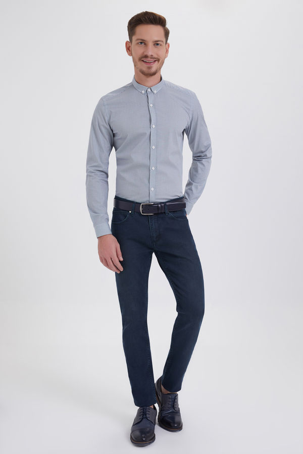 HATEM SAYKI - Lacivert - Yesil Slim Fit Pantolon (1)