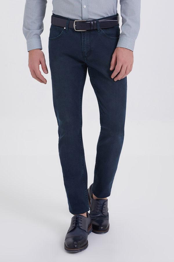 HATEM SAYKI - Lacivert - Yesil Slim Fit Pantolon