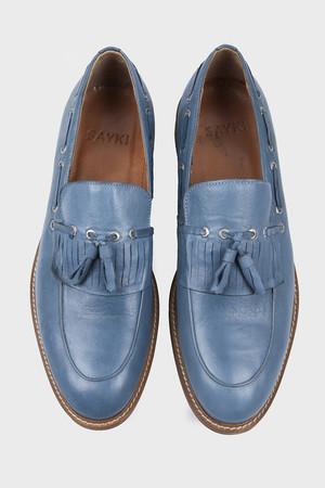 Mavi Klasik Püsküllü Loafer Ayakkabı - Thumbnail