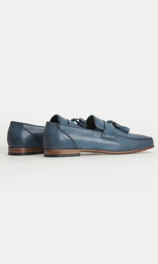 Hatem Saykı - Hakiki Deri Mavi Klasik Ayakkabı (1)