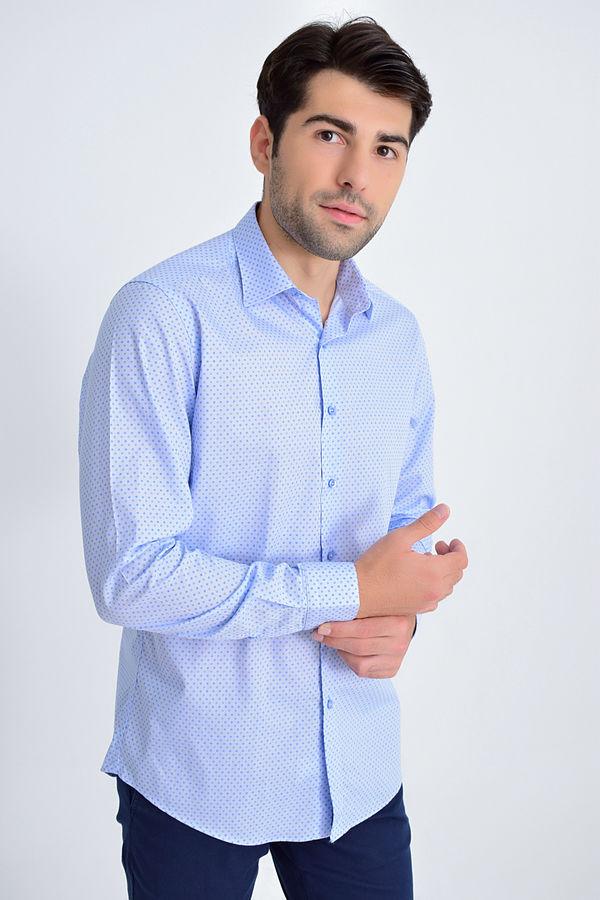 Hatemoğlu - Mavi Baskılı Regular Gömlek