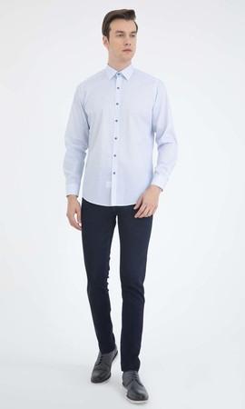 HATEMOĞLU - Baskılı Regular Mavi Gömlek (1)